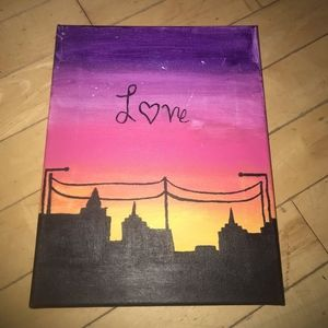 Sunset Love Canvas Painting